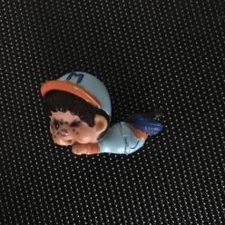 Figurine Mini Kiki Bully allongé bleu