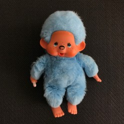 Peluche Kiki bleu vif - queue courte