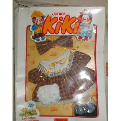 "Tenue Kiki Junior ""robe marron à dentelle"" et culotte blanche"
