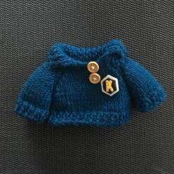 "Gros pull bleu marine ""K"""
