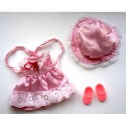 Tenue Kiki Boutique robe en satin rose